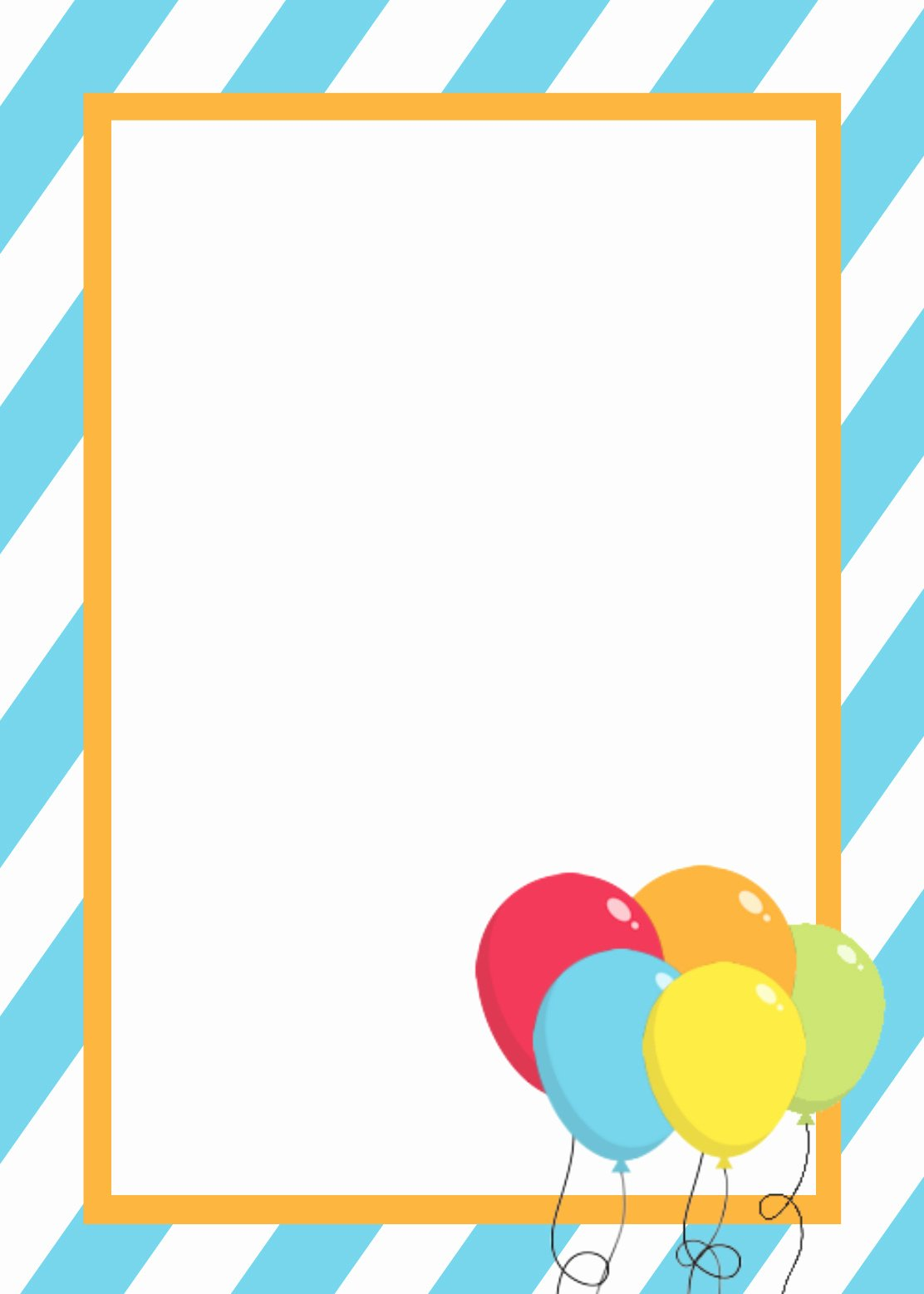 Birthday Card Template Word Inspirational Free Printable Birthday Invitation Templates