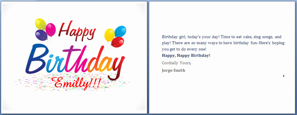 Birthday Card Template Word New Ms Word Happy Birthday Cards Word Templates