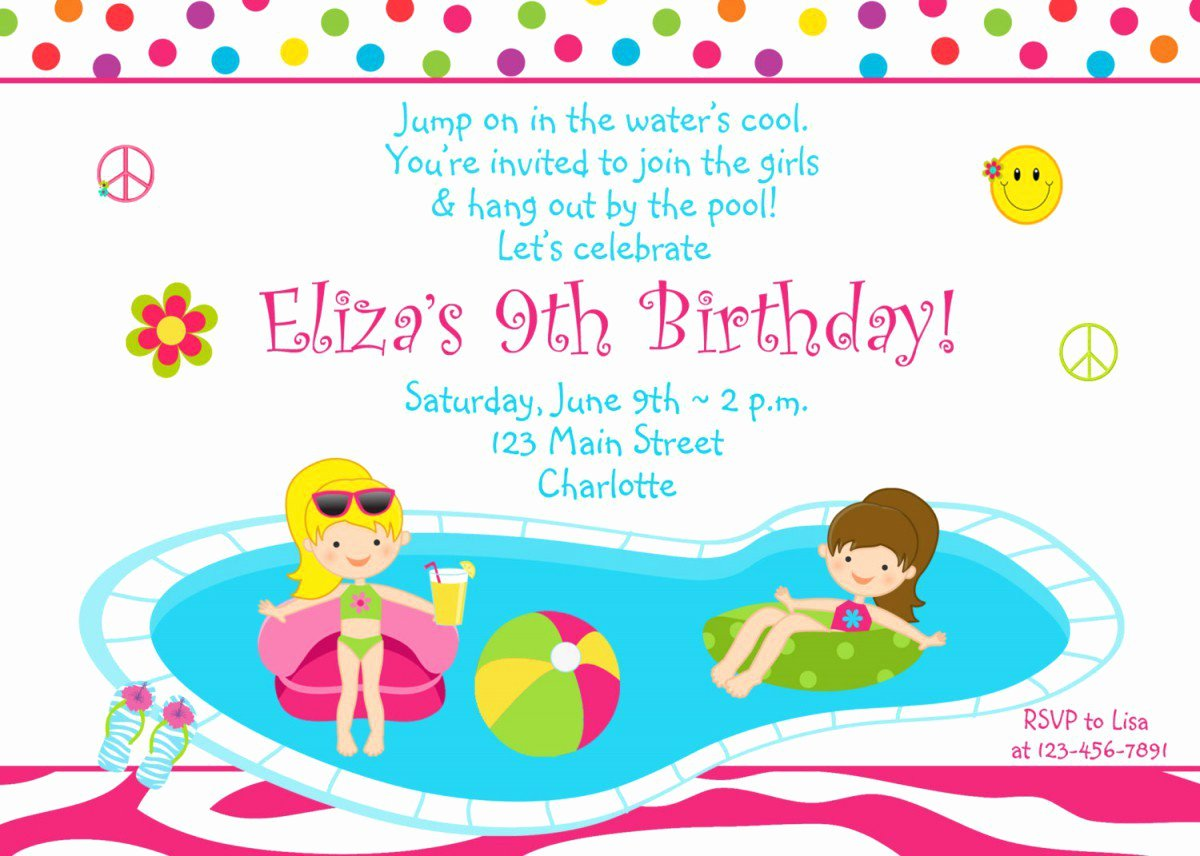 printable birthday invitations for teenage girls free