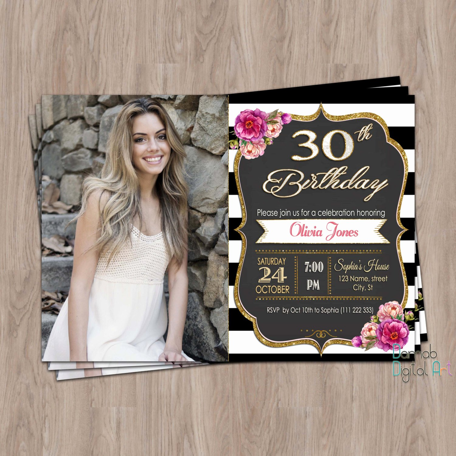 Birthday Invitations for Women Beautiful 30th Birthday Invitation 30th Birthday Invitation for Women