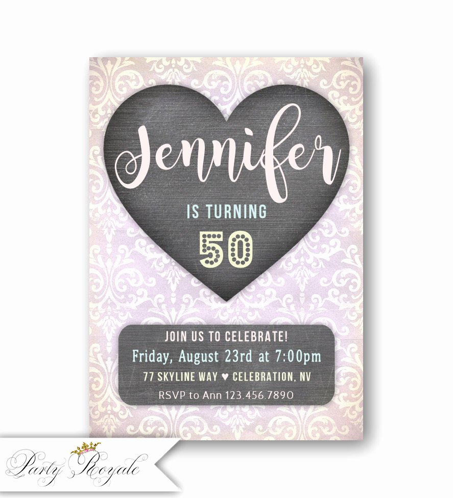Birthday Invitations for Women Best Of Adult Birthday Invitations Women S 50th Birthday