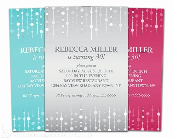 Birthday Invitations for Women Fresh Adult Birthday Invitation for Woman Choose Color Printable File Invite for Girl Female