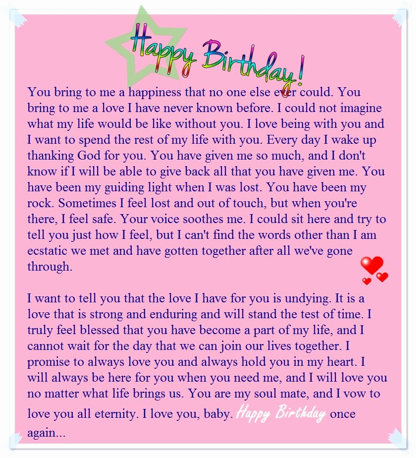 Birthday Letter for Boyfriend Beautiful A Sweet Happy Birthday Letter to My Boyfriend