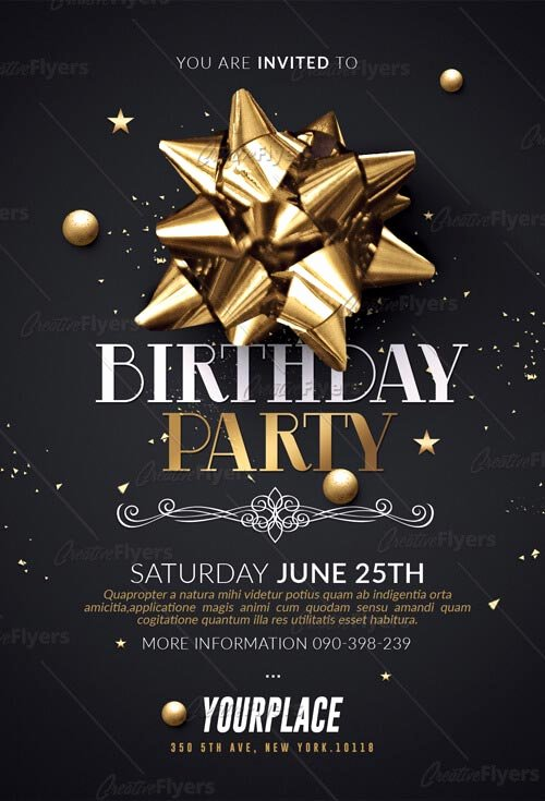 Birthday Party Flyer Templates Free Awesome Birthday Party Flyer Psd