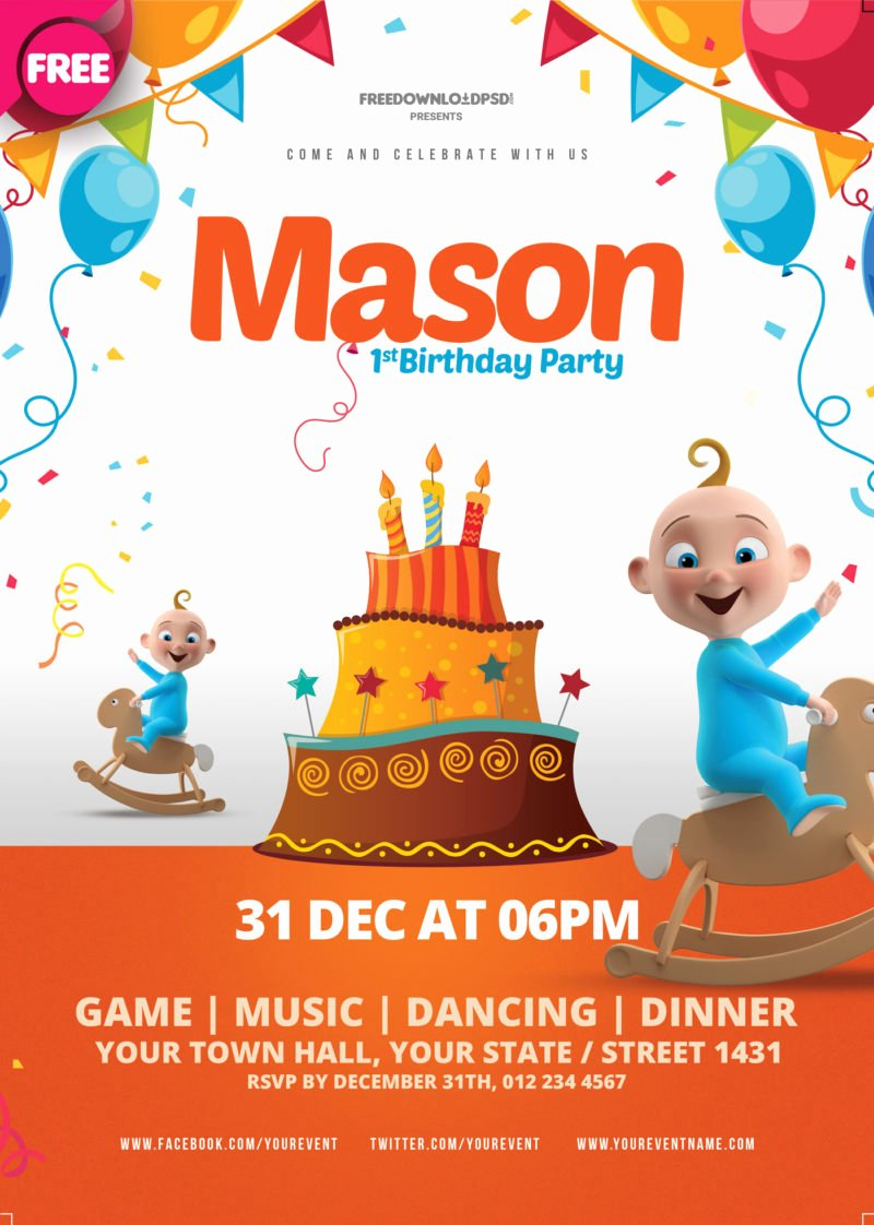 Birthday Party Flyer Templates Free Beautiful [free Download] Birthday Party Flyer