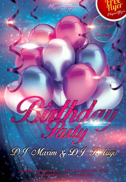 Birthday Party Flyer Templates Free Best Of Download Free Birthday Party Club Flyer Psd Template