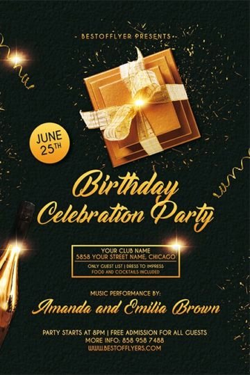 Birthday Party Flyer Templates Free Best Of Download the Best Free Anniversary Flyer Psd Flyer Templates