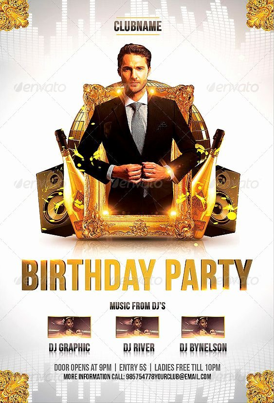 Birthday Party Flyer Templates Free Elegant Birthday Party Flyer Template Party Flyer Template Birthday