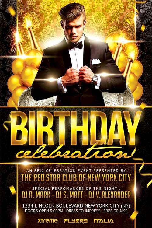 Birthday Party Flyer Templates Free Elegant Elegant Birthday Party Flyer Template Xtremeflyers