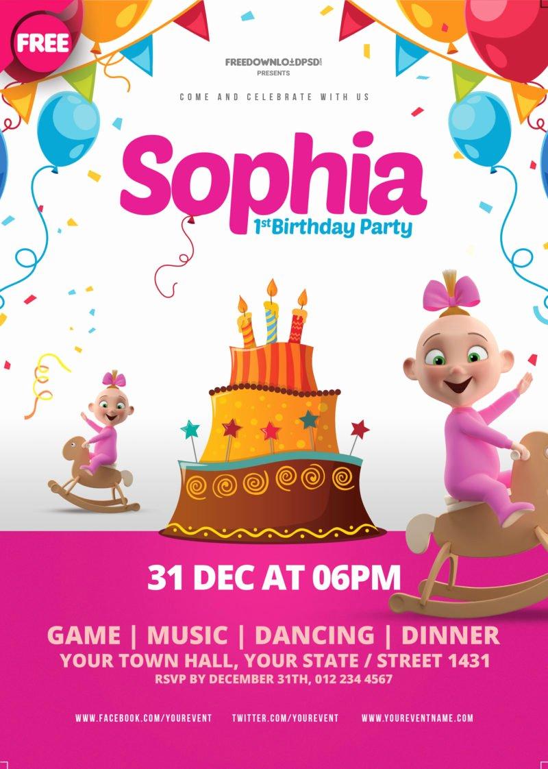 Birthday Party Flyer Templates Free Elegant [free Download] Birthday Party Flyer