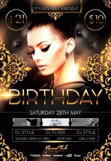 Birthday Party Flyer Templates Free Lovely Birthday Party Psd Flyer Template 8106 Styleflyers