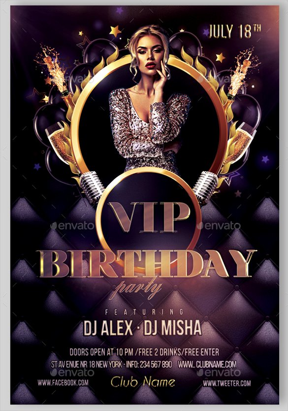 Birthday Party Flyer Templates Free Luxury 43 Birthday Flyer Templates Word Psd Ai Vector Eps
