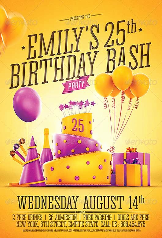 Birthday Party Flyer Templates Free Luxury Best Of Birthday Flyer Templates Free and Premium Flyer Collection