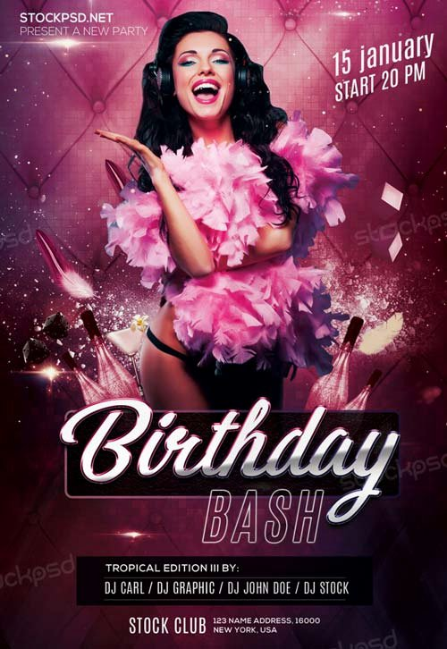 Birthday Party Flyer Templates Free Luxury Birthday Bash Party Free Psd Flyer Template Download Free Birthday Party Flyer Templates