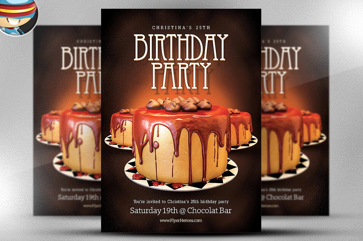 Birthday Party Flyer Templates Free New Birthday Flyer Template Flyer Templates On Creative Market