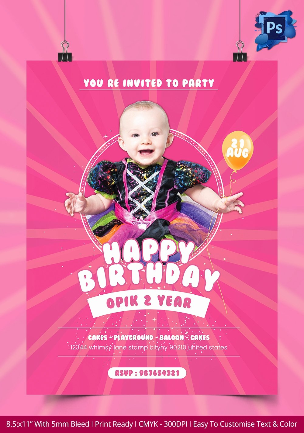 Birthday Party Flyer Templates Free Unique 135 Psd Flyer Templates – Free Psd Eps Ai Indesign format Download