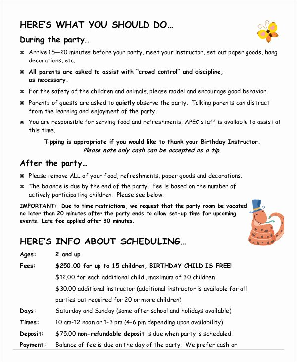 Birthday Party Program Outline Luxury Sle Birthday Party Program Template Impremedia
