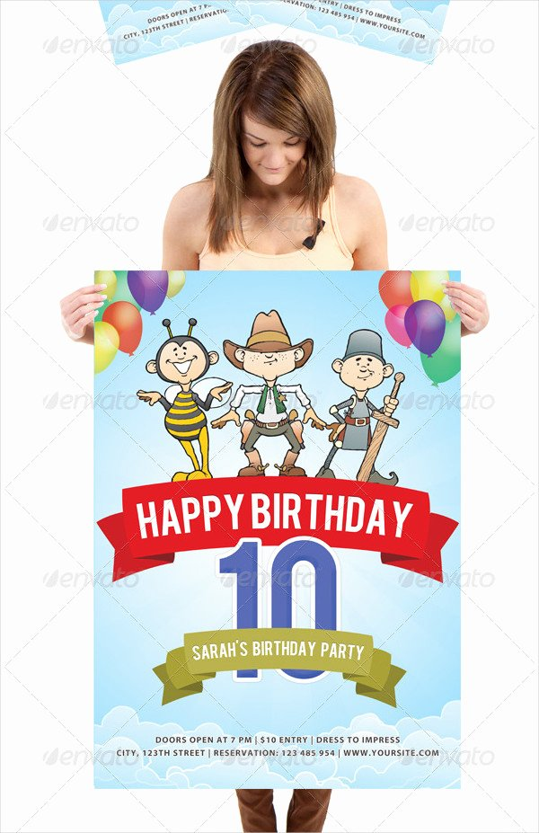 Birthday Posters Free Download Beautiful 27 Birthday Poster Templates Free & Premium Download
