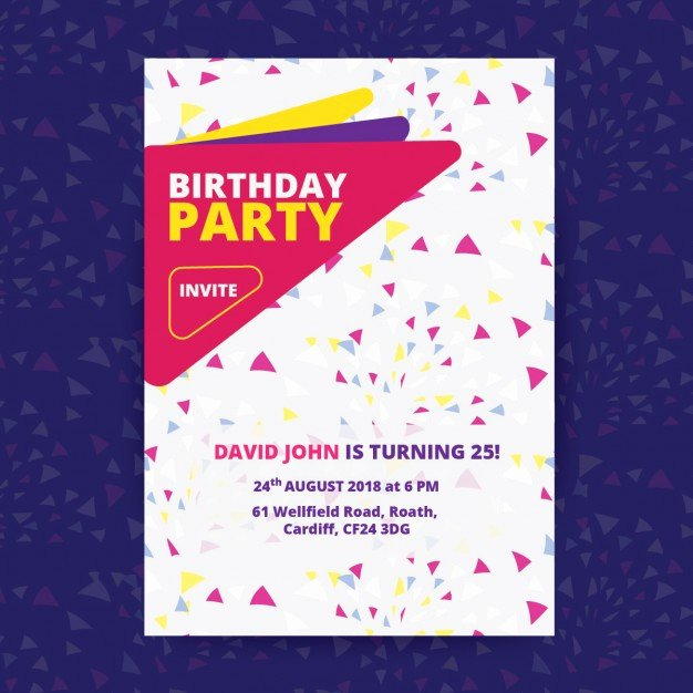 Birthday Posters Free Download Elegant Birthday Party Poster Vector