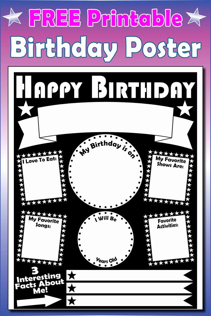 Birthday Posters Free Download Inspirational Free Printable Birthday Poster – Supplyme
