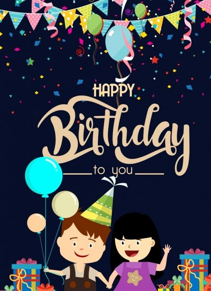 Birthday Posters Free Download Unique Kids Free Vector 1 344 Free Vector for
