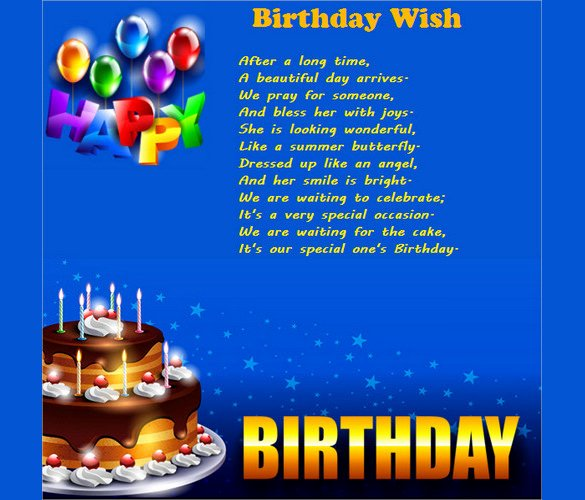 Birthday Wish List Template Elegant 11 Birthday Email Templates Free Sample Example format Download