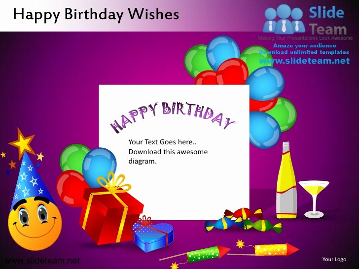 Birthday Wish List Template Elegant Happy Birthday Wishes Powerpoint Ppt Templates