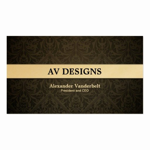 Black and Gold Business Cards Best Of Premium Damask Black and Gold Business Card