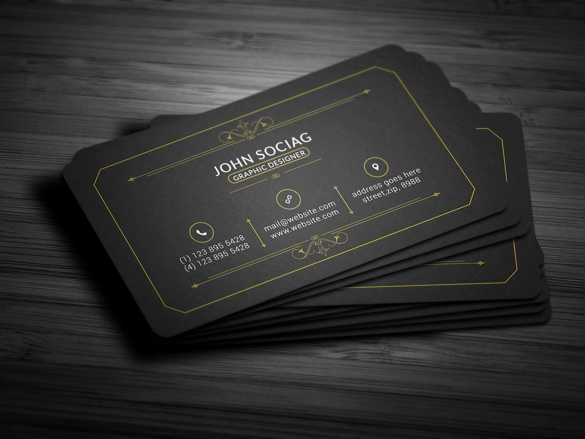 Black and Gold Business Cards Inspirational 25 Black and Gold Business Card Templates