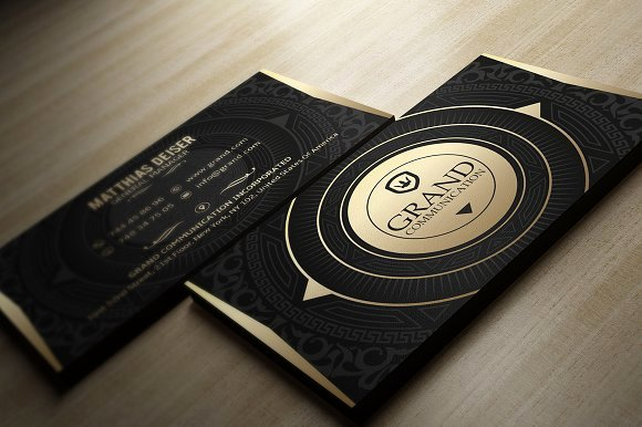Black and Gold Business Cards Inspirational Gold and Black Business Card Business Card Templates Creative Market