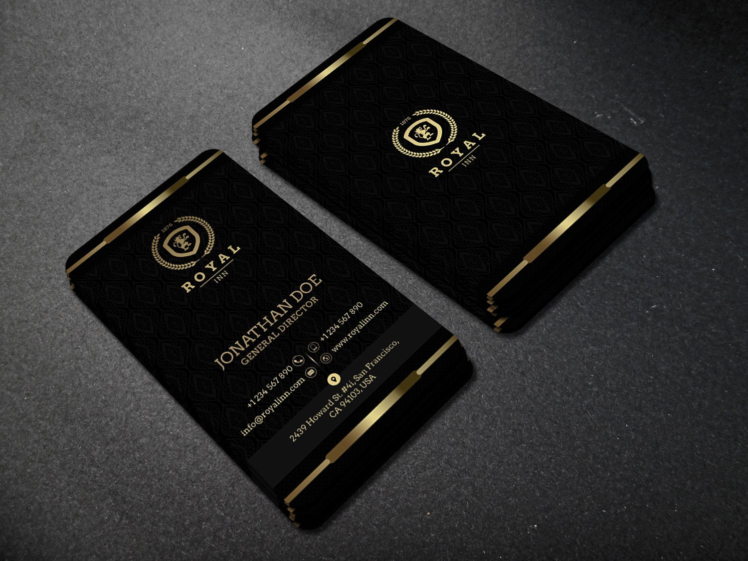 Black and Gold Business Cards Lovely Gold and Black Business Card 52 Business Card Templates Creative Market