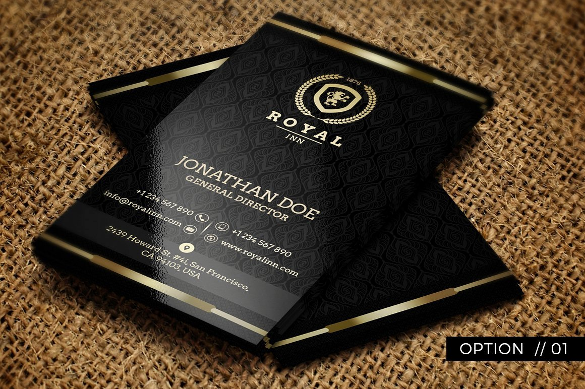 Black and Gold Business Cards Luxury 25 Black and Gold Business Card Templates