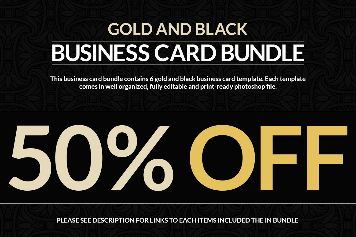 Black and Gold Business Cards Luxury 6 Gold and Black Business Cards Business Card Templates Creative Market