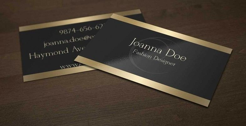 Black and Gold Business Cards Luxury Elegant Black and Gold Business Card Template for Fashion Designer This Design is Available for