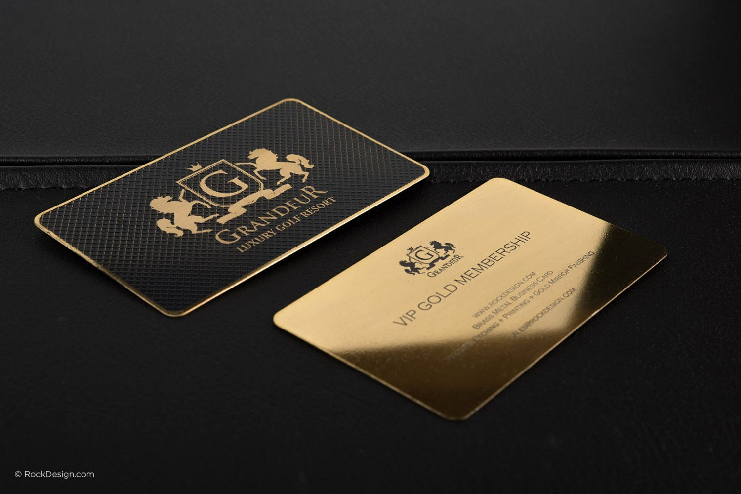 Black and Gold Business Cards Luxury Gold Metal Business Cards