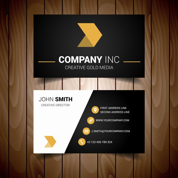 Black and Gold Business Cards Unique Black and Gold Minimal Business Card Free Vector In Adobe Illustrator Ai format