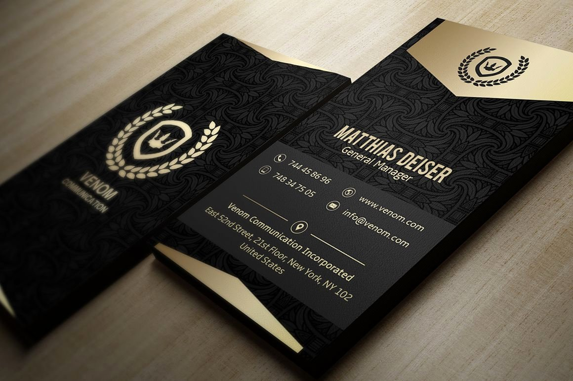 Black and Gold Business Cards Unique Gold and Black Business Card