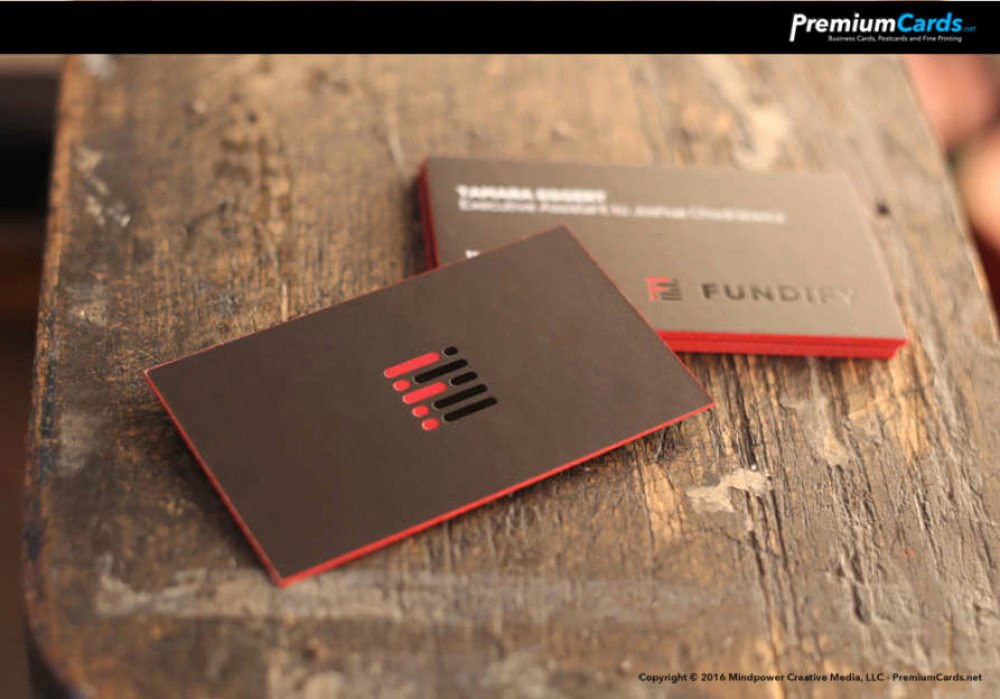 Black and Red Business Cards Awesome Black and Red Foil 36pt Business Cards