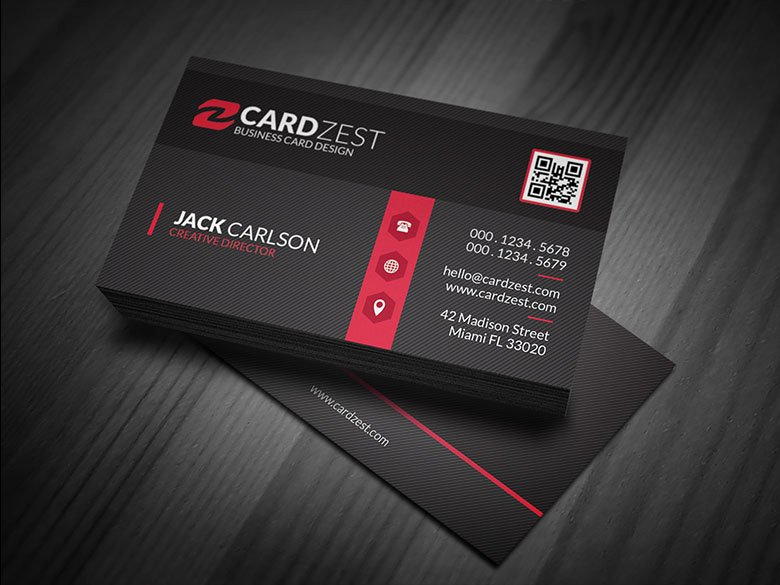Black and Red Business Cards Awesome Stylish Black & Red Corporate Business Card Template Cardzest