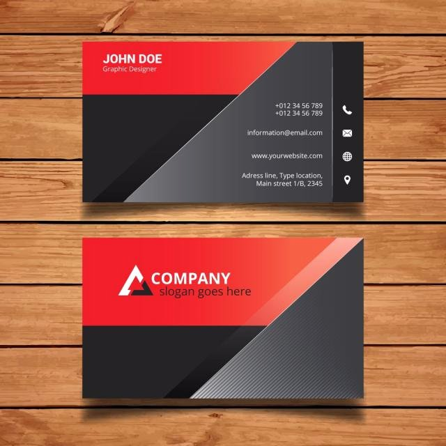 Black and Red Business Cards Beautiful Black and Red Name Card Template for Free Download On Tree