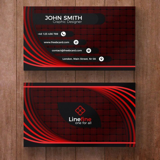 Black and Red Business Cards Best Of Red and Black Corporate Business Card Psd File
