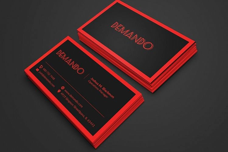 Black and Red Business Cards Elegant Black and Red Business Card by Fancy Fo