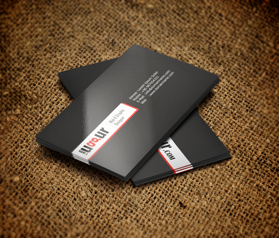Black and Red Business Cards Elegant Black White Red Business Card by Mottcalem On Deviantart