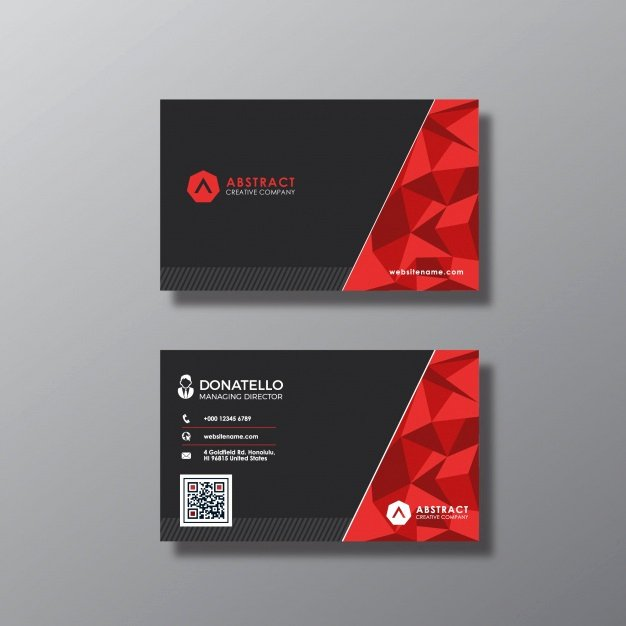 Black and Red Business Cards Fresh Black and Red Business Card Vector