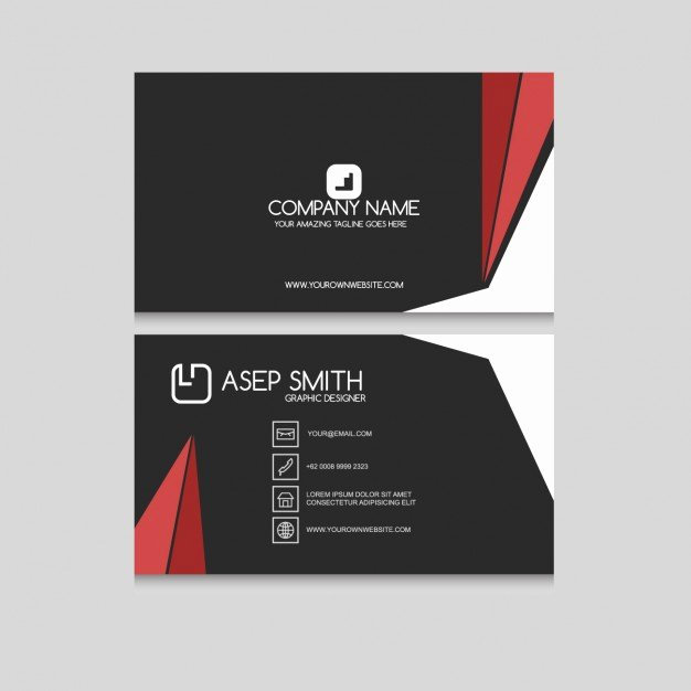 Black and Red Business Cards Fresh Black and Red Business Card with Stripes Vector