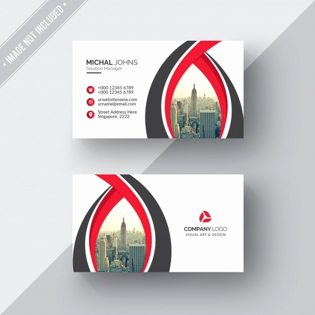 Black and Red Business Cards Inspirational White Business Card with Red and Black Details Psd File