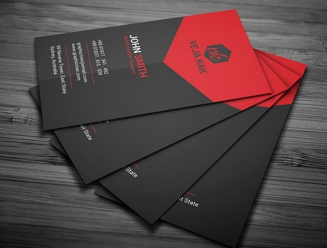 Black and Red Business Cards Lovely Free Black and Red Creative Business Card Template Psd Titanui