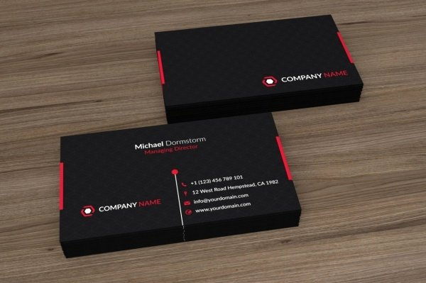 Black and Red Business Cards New 24 Corporate Business Card Designs Psd Vector Eps Jpg Download