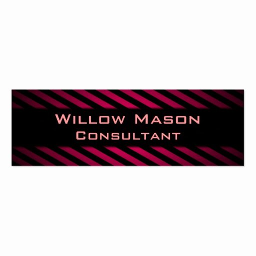 Black and Red Business Cards New Black and Red Striped Professional Business Card