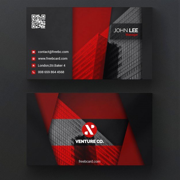 Black and Red Business Cards New Red and Black Business Card Psd File